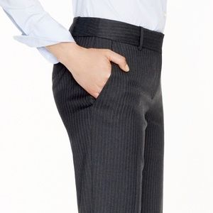 J. Crew 1035 trouser in pinstripe Super 120s wool
